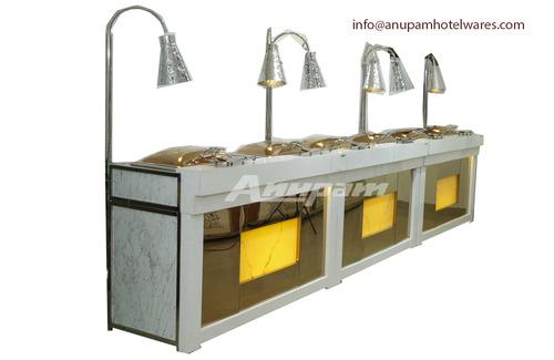 Buffet Counter - Corian Rose Gold & Onex