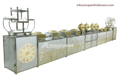 Buffet Counter - Two tone Marble & Light Theme