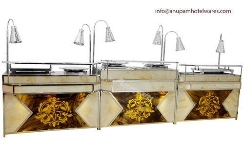 Chaat Counter (CUT CORNER & DIMOND MODEL)