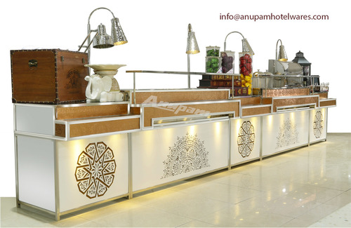 Chaat Counter STEP MODEL WITH COPPER & ROSE GOLD