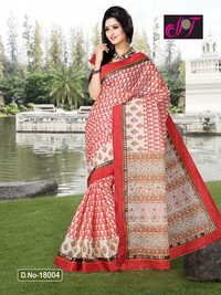 Batik Print Cotton Sarees