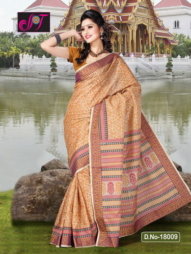 Poly Cotton Sarees