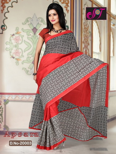 Cotton Embroidery Sarees