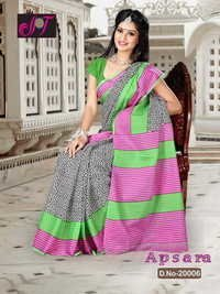 Colored Cotton Sarees