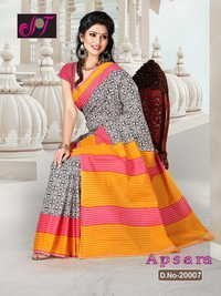 Multi Colored Cotton Sarees