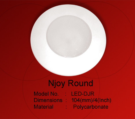 LED Downlight Enclosure Njoy Round