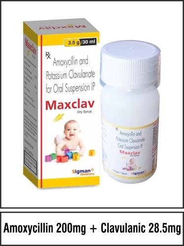 Amoxycillin 200 + Clavulanic 28.5