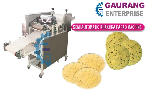 Semi Automatic Rice Papad Maker