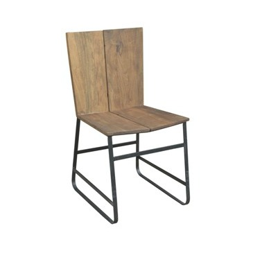 Vintage Industrial Iron Chair
