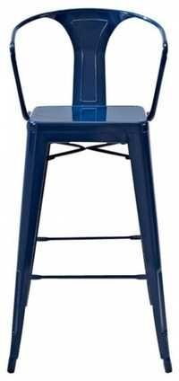 Blue Metal Bar Stools With Backs
