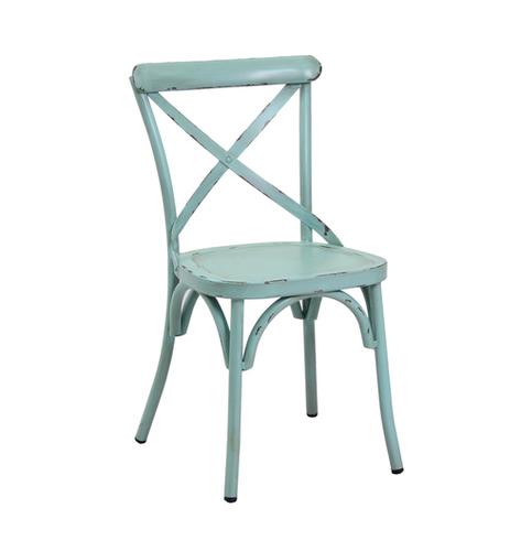 Antique Blue steel chair