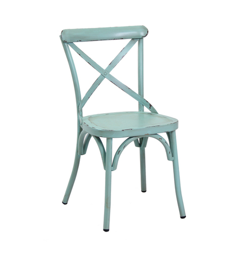 Antique Blue steel chair