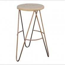 Bar Stool Copper Hairpin Legs Scandinavian