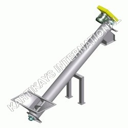Inclined Auger Screw Tube Conveyor