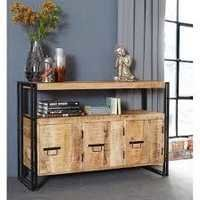 Cosmo Industrial Reclaimed Wood Metal Sideboard