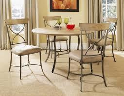 Charleston round metal and wood dining Table Set