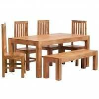 Contemporary solid wood dining set