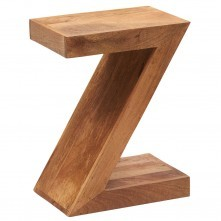 Contemporary solid wood light mango Z Shelf