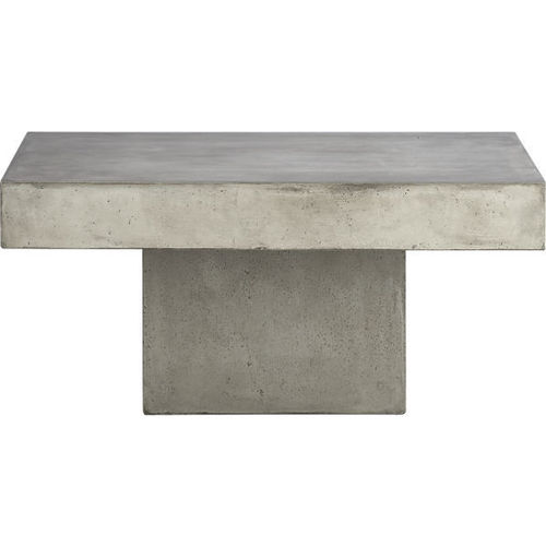 Thick Concrete Square Coffee Table