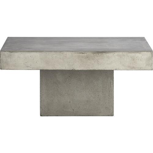 Thick Concrete Square Coffee Table