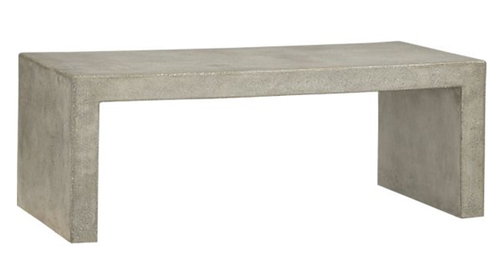 Thick Concrete Bench