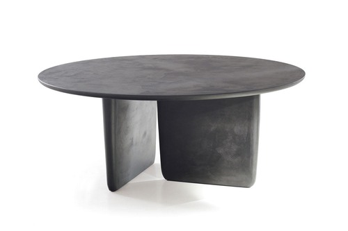 Round Coffee Table Cement Finish