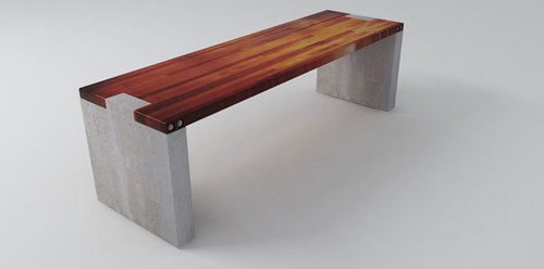 Long Side Bench Concrete Legs