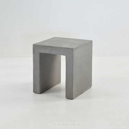 Raw Concrete Square Stool