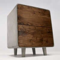 Concrete Small cabinet two Drawer