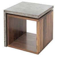 Concrete Chuck Side Table