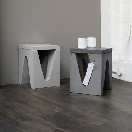 Concrete Small Side Table