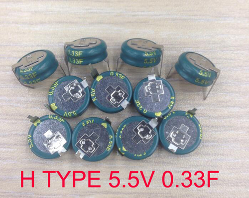 Button type super capacitor