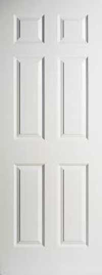 6P white Moulded Doors
