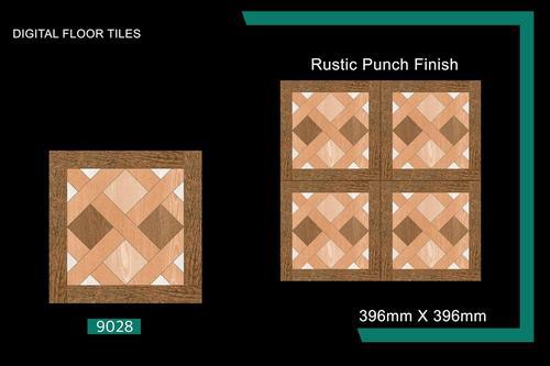 16x16 Wooden Finish Floor Tiles