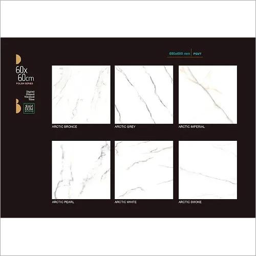 White Marble Finish Floor Tiles