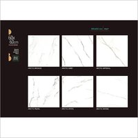 White Marble Finish Floor Tiles