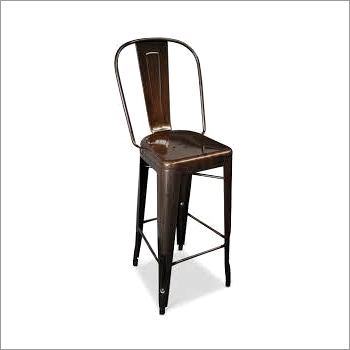 Tolix Bar Stool with High Back.