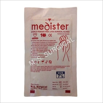 Latex Powdered Free Surgical Sterile Gloves
