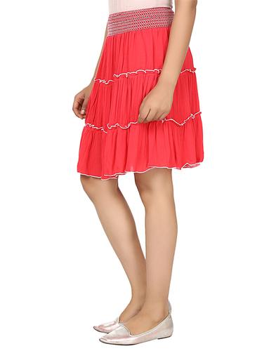Coral Ladies Skirt