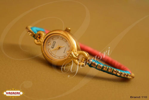 Oval Shape Multicolor Threaded Watch
