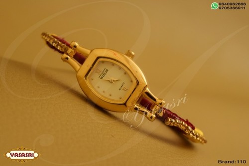 Maroon Threaded Watch