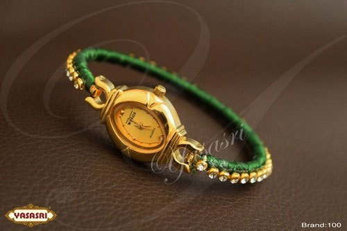Green Threaded Fancy Watch