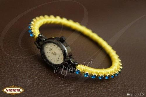 Blue Stones Threaded Watch