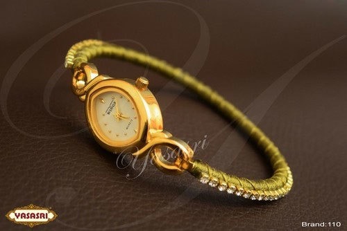 White Stone Designed Threaded Watch