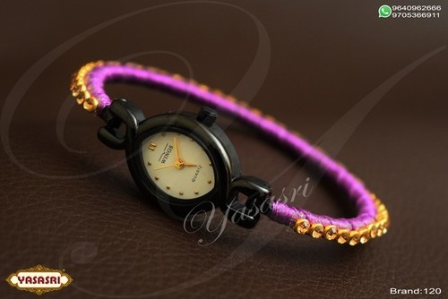 Pink Color Threaded Watch