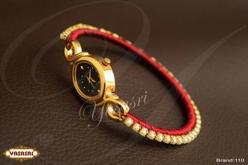 Mothi Stone Pink Threaded Watch