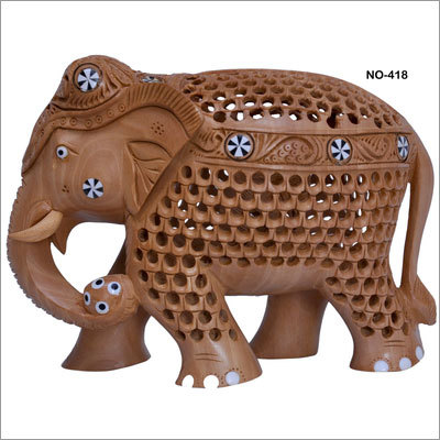 Wooden Undercut Elephant