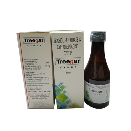 Tricholine Citrate Cyproheptadine Syrup