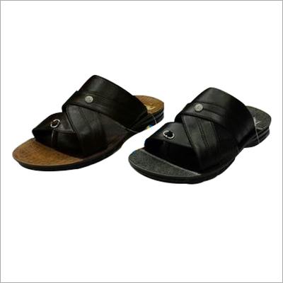 Black PU Slipper
