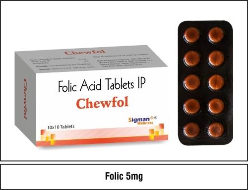 Folic Acid 5 mg